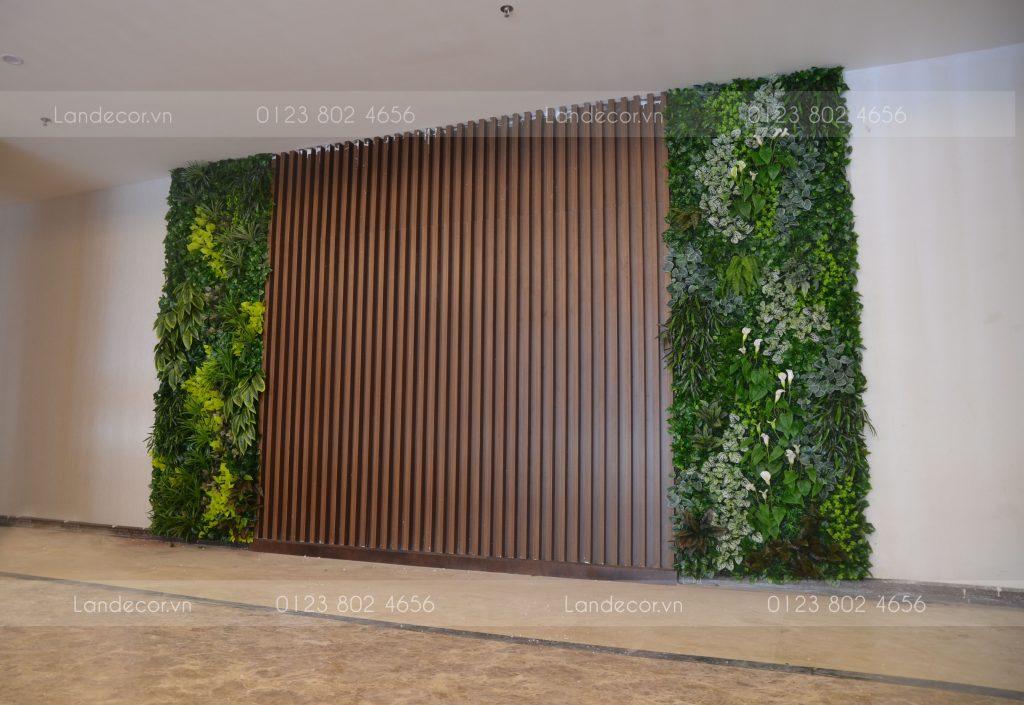 Tường cây giả cho khách sạn Mường Thanh Hà Nam