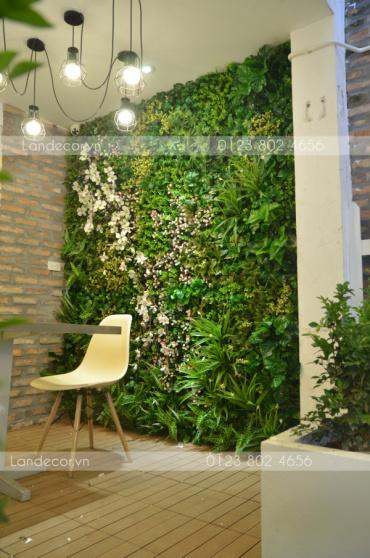 Tổng hợp những mẫu tường cây giả, cỏ giả đẹp nhất 2017