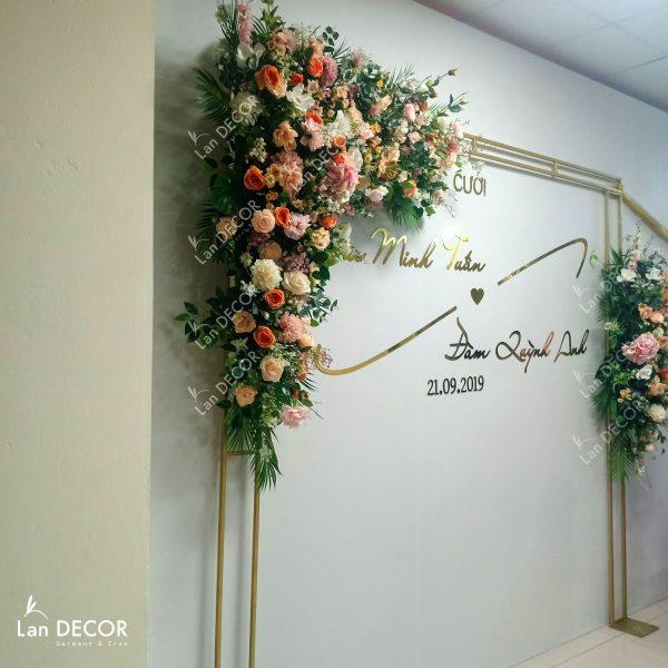 backdrop hoa cưới đẹp